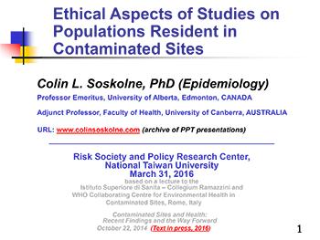 Colin L  Soskolne's Web Site — Archives & Links